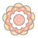 kitschy flower 3aorange cream