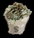 куча долларов, доллары сша, большая куча денег, бумажная купюра, американские деньги, u.s. dollars, наличные деньги, деньги в мешке, доллары в мешке, мешок с деньгами