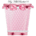 pink trash icon by mlle barbie03