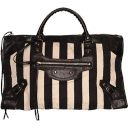 balenciaga striped city handbag
