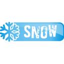 snow, button