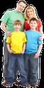семья, счастливая семья, родители, дети