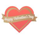 happy valentine's day icon