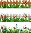 трава, забор, цветы, ромашка, клубника, бабочка, зеленая трава, зеленое растение, газон, зеленый, grass, fence, flowers, chamomile, strawberry, butterfly, green grass, green plant, lawn, green, gras, zaun, blumen, kamille, erdbeere, schmetterling, grünes gras, grüne pflanze, rasen, grün, herbe, clôture, fleurs, camomille, fraise, papillon, vert herbe, plante verte, pelouse, vert, hierba, manzanilla, fresa, mariposa, hierba verde, césped, erba, recinzione, fiori, camomilla, fragola, farfalla, erba verde, pianta verde, prato, grama, cerca, flores, camomila, morango, borboleta, grama verde, planta verde, gramado, verde, паркан, квіти, полуниця, метелик, зелена трава, зелена рослина, зелений