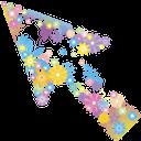цветы, цветочный узор, стрелка, указатель, цветочная стрелка, flowers, floral pattern, arrow, pointer, flower arrow, blumen, blumenmuster, pfeil, zeiger, blumen pfeil, fleurs, motif floral, flèche, pointeur, flèche florale, estampado de flores, flecha, puntero, flecha floral, fiori, motivi floreali, freccia, puntatore, freccia floreale, flores, teste padrão floral, seta, ponteiro, seta floral, квіти, квітковий узор, стрілка, покажчик, квіткова стрілка