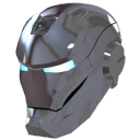 silver iron man mask