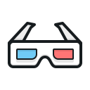 3 d glasses, cinema, 3 d очки, кино
