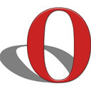 opera logo plastic