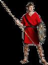 воин, древний воин, средневековый воин, римский воин, древний рим, щит, копье, метание копья, нападение, красный, сандалии, тога, одежда древнего римляна, туника