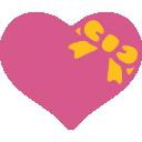 emoji, u1f49d