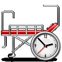 hospital, bed, clock, 128, hot