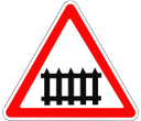 дорожный знак, предупреждающие знаки, железнодорожный переезд со шлагбаумом, road sign, warning signs, crossing with a barrier, verkehrszeichen, warnschilder, kreuzung mit einer barriere, panneau routier, panneaux d'avertissement, croisement avec une barrière, señal de tráfico, señales de advertencia, cruzando con una barrera, cartello stradale, segnali di pericolo, attraversando con una barriera, sinal de estrada, sinais de aviso, cruzando com uma barreira