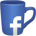 social, media, icons, coffee, cups, set, 512x512, 0000, facebook