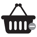 undo shopping basket icon