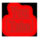 social, media, icons, neon, set, 512x512, 0004, youtube