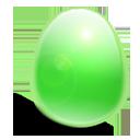 huevo, verde, luz