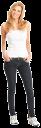 джинсы цвет индиго, девушка в джинсах, улыбка