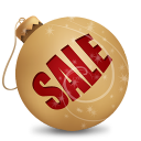 christmas, sale, ball