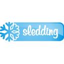 sledding, button