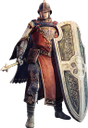 warrior, male, man, big shield, воин, мужчина, большой щит