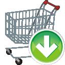 shopping cart, arrow down, корзина для покупок, тележка для покупок, стрелка вниз