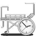 hospital, bed, clock, 128, dis