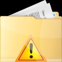 folder, warning