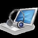 laptop, headphones, listen music, ноутбук, наушники, слушать музыку