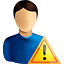 user, warning