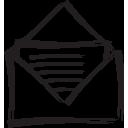 envelope, open
