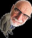старик, человек в костюме, очки