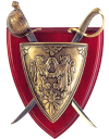 щит, сабля, герб, shield, saber, coat of arms, schild, schwert, wappen, bouclier, l'épée, le manteau des bras, scudo, spada, stemma, escudo, espada, escudo de armas