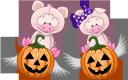 хэллоуин, тыква, розовый поросенок, праздник, pumpkin, pink pig, holiday, kürbis, rosa schwein, urlaub, citrouille, cochon rose, vacances, calabaza, cerdo rosa, vacaciones, halloween, zucca, maiale rosa, vacanze, dia das bruxas, abóbora, porco rosa, férias, хеллоуїн, гарбуз, рожеве порося, свято