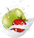 фрукты в молоке, фруктовый йогурт, брызги молока, яблоко, клубника, зеленое яблоко, fruit in milk, fruit yogurt, splashes of milk, apple, strawberries, green apple, früchte in milch, fruchtjoghurt, milchspritzer, apfel, erdbeeren, grüner apfel, fruits au lait, yaourt aux fruits, éclaboussures de lait, pomme, fraise, pomme verte, fruta en leche, yogurt de fruta, salpicaduras de leche, manzana, fresas, manzana verde, frutta nel latte, yogurt alla frutta, spruzzi di latte, mela, fragole, mela verde, фрукти в молоці, фруктовий йогурт, бризки молока, яблуко, полуниця, зелене яблуко