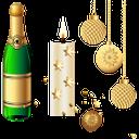 новый год, бутылка шампанского, свеча, шары для ёлки, new year, a bottle of champagne, candle, balls for christmas trees, neues jahr, eine flasche champagner, kerzen, kugeln für weihnachtsbäume, nouvelle année, une bouteille de champagne, bougies, boules pour arbres de noël, nuevo año, una botella de champán, bolas para árboles de navidad, nuovo anno, una bottiglia di champagne, una candela, palle per alberi di natale, ano novo, uma garrafa de champanhe, velas, bolas para árvores de natal