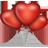 heart, balloons