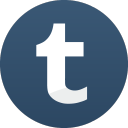 s icons, social media icons, basic, round, set, gradient color, 512x512, 0006, tumblr