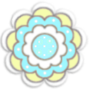 kitschy flower (3c)aqua ducky w shadow