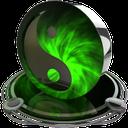 ying yang green