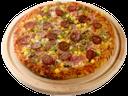 пицца с копчеными колбасками сыром оливками и ветчиной, pizza with smoked sausages and ham cheese olives, pizza mit geräucherte würste und schinken käse oliven, pizza con salchichas ahumadas y de las aceitunas de queso jamón, pizza avec des saucisses fumées et les olives de fromage au jambon, pizza con salsicce affumicate e olive formaggio prosciutto, pizza com enchidos e azeitonas do queijo do presunto