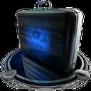 briefcase blue