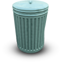 bin closed, закрытый мусорный бак