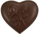 шоколадное сердце, роза, chocolate heart, schokolade herz, coeur de chocolat, rose, corazón de chocolate, cuore di cioccolato, coração de chocolate, rosa