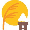 emoji, u1f391