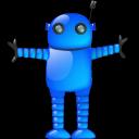 blue robot sh