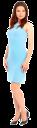 девушка в платье, голубое платье