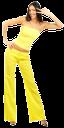 девушка в желтом, желтый