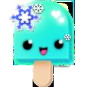 (15) turquoise snowflakes