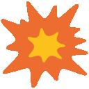 emoji, u1f4a5
