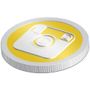 s icons, social media icons, coin, set, 512x512, 0029, instagram